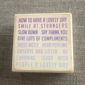 Urban Outfitters Inspirational Block Decor